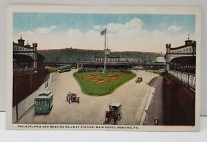 Details about Philadelphia And Reading Railways Station Main Depot Reading  Pa Postcard