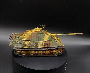 - Ação de ferrolho Pintado 28mm Escala 1/56 Alemão Tiger Ii (King Tiger) Tanque Ww2