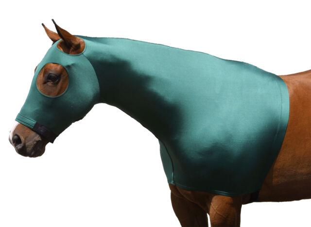 Sleazy Sleepwear for Horses Genuine Stretch Hood Hunter Green Large