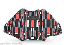 ALEXANDER McQUEEN 2014 geometric PRINT SATIN DE MANTA CLUTCH BAG BNWT