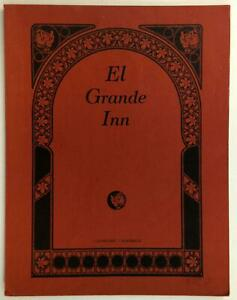 El Grande Inn Original Vintage Restaurant Menu Clearlake California