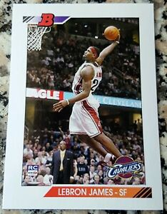 LEBRON-JAMES-2003-1-Draft-Pick-Rookie-Card-RC-Logo-1992-Style-Cavaliers-Champs