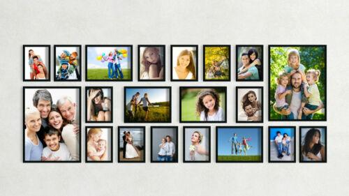 20er Set Bilderrahmen 13x18 18x24 30x40 Foto Bild Wandgalerie Collage Rahmen