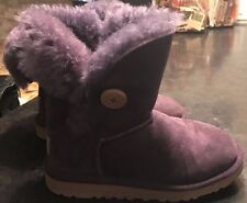 UGG AUSTRALIA Toddler Girl's Purple Bailey Button Boots Size US 12M EUR 29