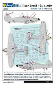Hurricane-Airframe-Stencil-Data-Markings-1-32-scale-Aviaeology-Decals