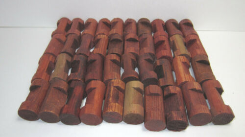 """Lincoln Logs Replacement Parts 40 Small 1 Notch Logs 1.5/"""""""