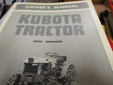 Kubota B6000 Tractor Operators Manual