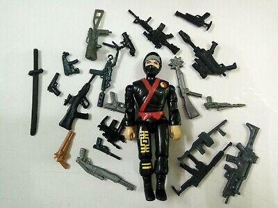 "3.75/"" Gi Joe Black  Ninja #01 With 5pcs Accessories Rare Figure Gift"
