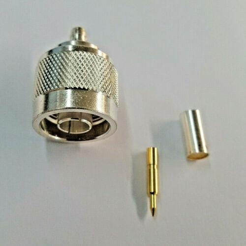 Lot of 5 cable group C RF Industries RFN-1005-3C  N male crimp RG58 LMR195