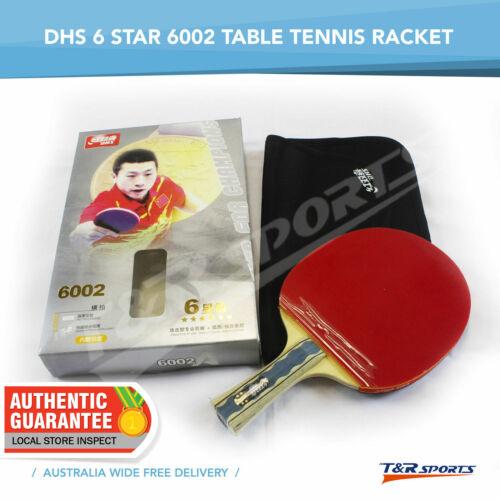 2 x DHS 6002 TABLE TENNIS BAT RACKET PING PONG FREE BAT CASE FREE POSTAGE
