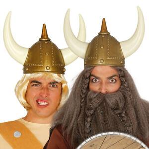 Wikinger-Helm Gallier Mittelalter Helm Krieger Barbaren Kriegerhelm mit Hörnern