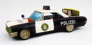 Ichiko-Polizei-Auto-Blechspielzeug-unberuehrter-Dachbodenfund