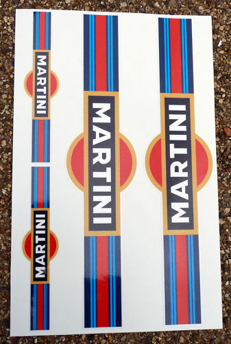 MARTINI style Motorbike Motorcycle Fork Decals Stickers
