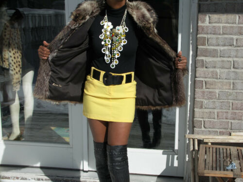 Jacket Coat Stylish S Fur Pelt Full Bolero Mint Raccoon aU7n1qWAA