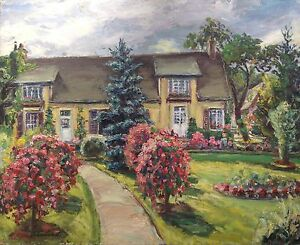 Gaston laborde tableau hsp jardin fleuri maison en for Jardin fleuri maison