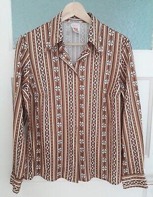 Angemessen Original Retro Vintage Bluse Aus England Gr. M/l Kleeblatt Ausgezeichnet Im Kisseneffekt