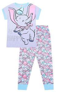 vif et grand en style spécial chaussure large éventail Details about Disney Dumbo Be Happy Long Ladies Cotton Pyjamas