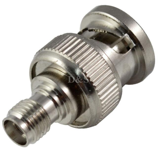 1pc BNC Male Plug to SMA Female Jack RF Coax Adapter Convertor Gold Plated Pin