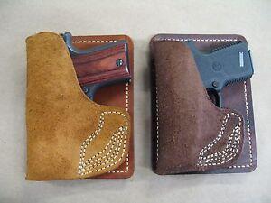 AZULA-Leather-Inside-Pocket-Wallet-Handgun-Holster-CCW-For-Choose-Gun-Model