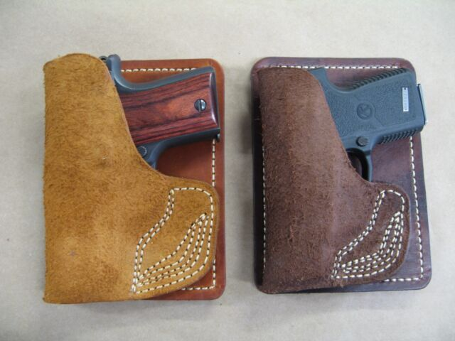 J/&J S/&W WALTHER PPS WALLET STYLE CUSTOM FORMED PREMIUM LEATHER POCKET HOLSTER