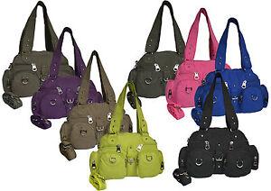 Tasche-Damentasche-Handtasche-Stofftasche-Schultertasche-Henkeltasche-Neu