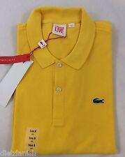 Lacoste L!ve Live Men's Polo Shirt ULTRASLIM FIT Lemon Yellow Size EU 6 US L
