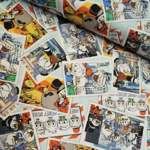 100/% Cotton Fabric Springs Creative Disney Ducktales Donald Duck Scrooge McDuck
