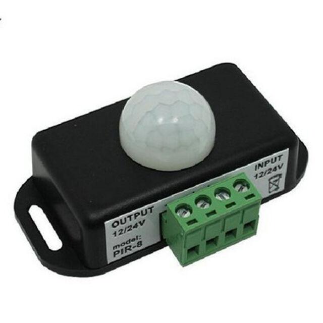 Automatisch DC 12V-24V 8A Infrarot PIR Bewegungssensor Schalter Für LED-Licht