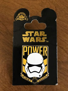 Disney-Star-Wars-The-Force-Awakens-Storm-Trooper-Power-First-Order-Pin-NEW