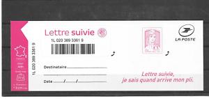 FRANCE-2016-MARIANNE-DE-CIAPPA-KAWENA-LETTRE-SUIVIE-FEUILLET-LS-4-AUTOAD-NEUF
