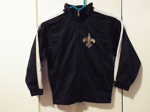 034b30eb Details about New Orleans Saints Official NFL Reebok Youth Kid L  Poly/Fleece Zip up Jacket N3D