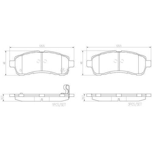 Scheibenbremse BREMBO P 49 057 passend für MAZDA 1 Bremsbelagsatz