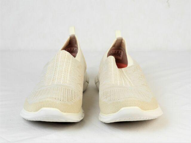 Womens Sneakers Stunner Skechers Knit White Off Slip Nwot Flat On 11m 8Nnwvm0