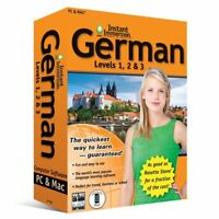 Instant Immersion Language Teaching Software Levels 1, 2 & 3 for PC & Mac (German)