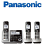Panasonic-KX-TGF373S-Link2Cell-Bluetooth-3-Cordless-Phones-Answering-Machine miniature 1