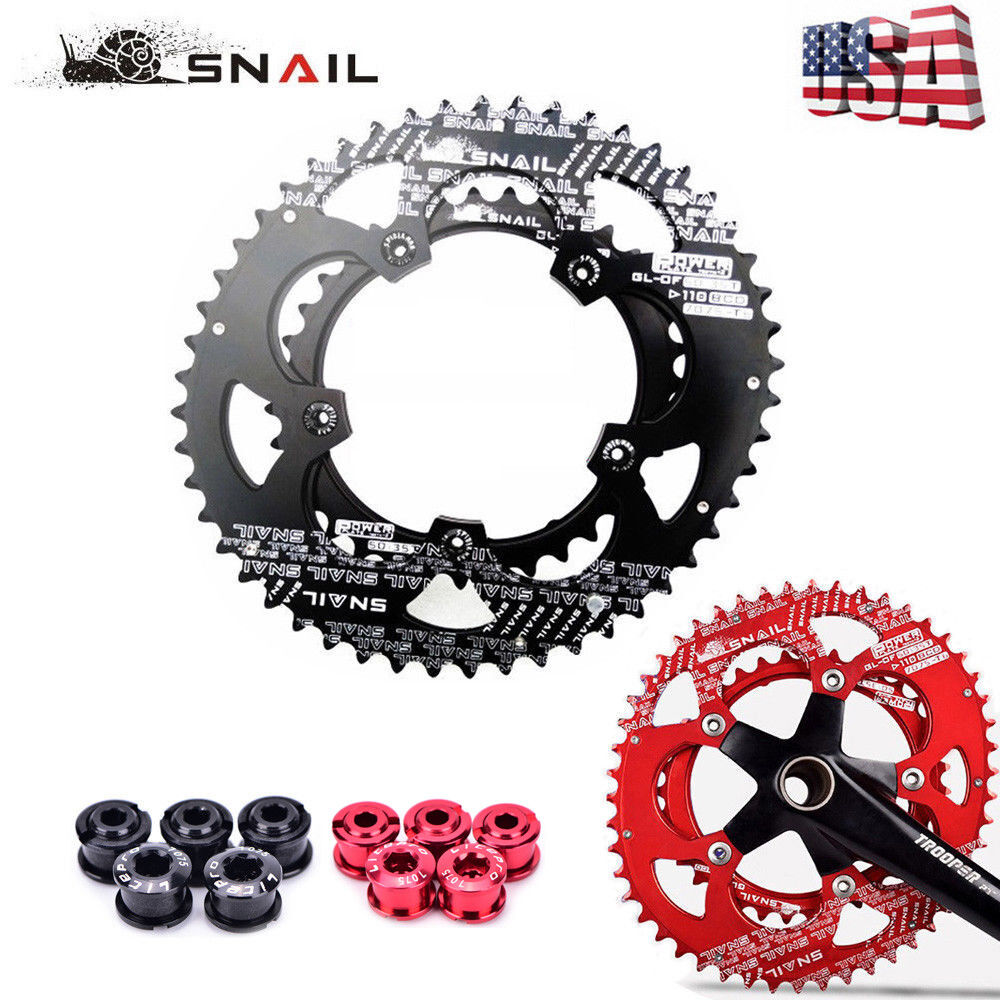 SNAIL 110mmBCD 50T 35T Road  Bike Chainring Double Oval Cycling Chainwheel Disc  enjoy 50% off