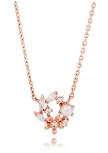 """Clue Argent Collier de perles /""""Clnr 17472MPW/"""" argent 925 plaqué or rose"""