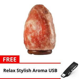 Keimav-Natural-Shape-Himalayan-Salt-Lamp-Light-Dimmer-w-USB-Ionizer-Black