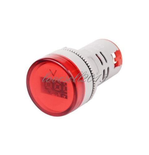 22 mm AC60-500V DEL Voltmètre Voltage Compteur Indicateur pilot Light New À faire soi-même