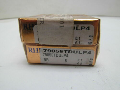 RHP 7905ETDULP4 Super Precision Bearing Set of 2 NIB