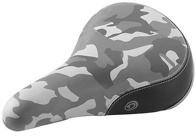 DIAMONDBACK URBAN PRO Camo Grey BMX Padded  Saddle SEAT camouflage NEW 8MM RAIL