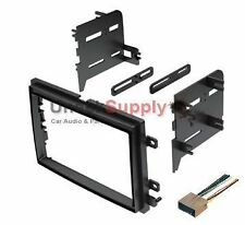 Double Din Dash Kit For Aftermarket Stereo Radio Install w/ Wire Harness