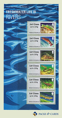 2013 Rivers Freshwater Life III - Post and Go Stamps in Presentation Pack PPP13