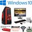 Rapido-Core-2-Duo-Paquete-de-monitor-de-PC-para-juegos-4GB-Ram-500GB-HDD-W10-ordenador miniatura 1