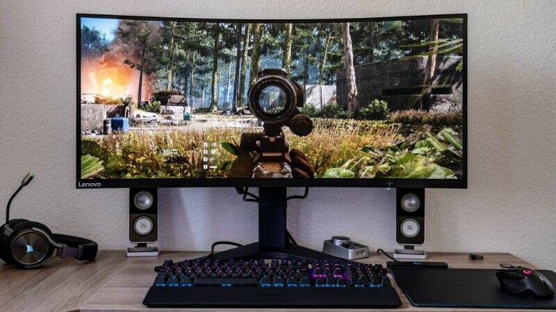 Lenovo G34W 34-Inch WQHD 144Hz 1ms Curved Ultra Wide Gaming Monitor