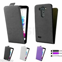 Flip PU Leather Case Cover for LG G3S Mini + Screen Protector & Stylus