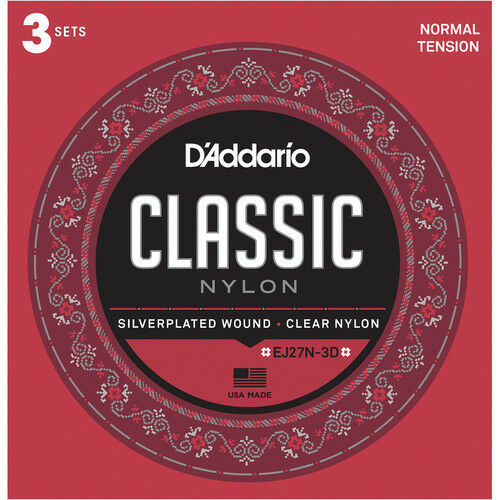 10 Pack  D'Addario EJ27N-3D Classical Guitar Nylon String Normal Tension