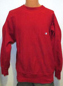vtg-CHAMPION-RED-Reverse-Weave-Sweatshirt-XL-Warmup-80s-made-usa