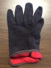 12 Pair Brown Jersey Insulated Lined Work Gloves Brand New Cold Weather
