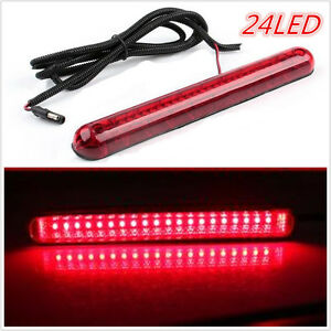 24-LED-CHMSL-Car-High-Mount-Third-3RD-Brake-Stop-Tail-Light-Lamp-Windshield